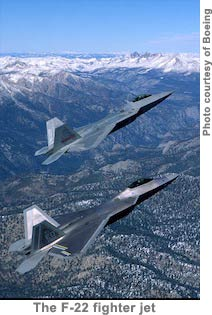 The F-22 fighter jet
