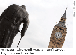 Winston Churchill was an unfiltered, high-impact leader