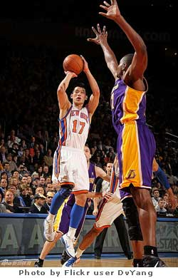 New York Knicks basketball sensation Jeremy Lin