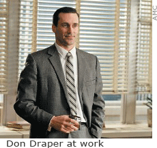 Don Draper at work