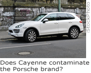 Does Cayenne contaminate the Porsche brand?