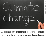 Global warming is an issue of risk for business leaders