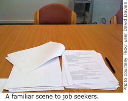 A familiar scene to job seekers