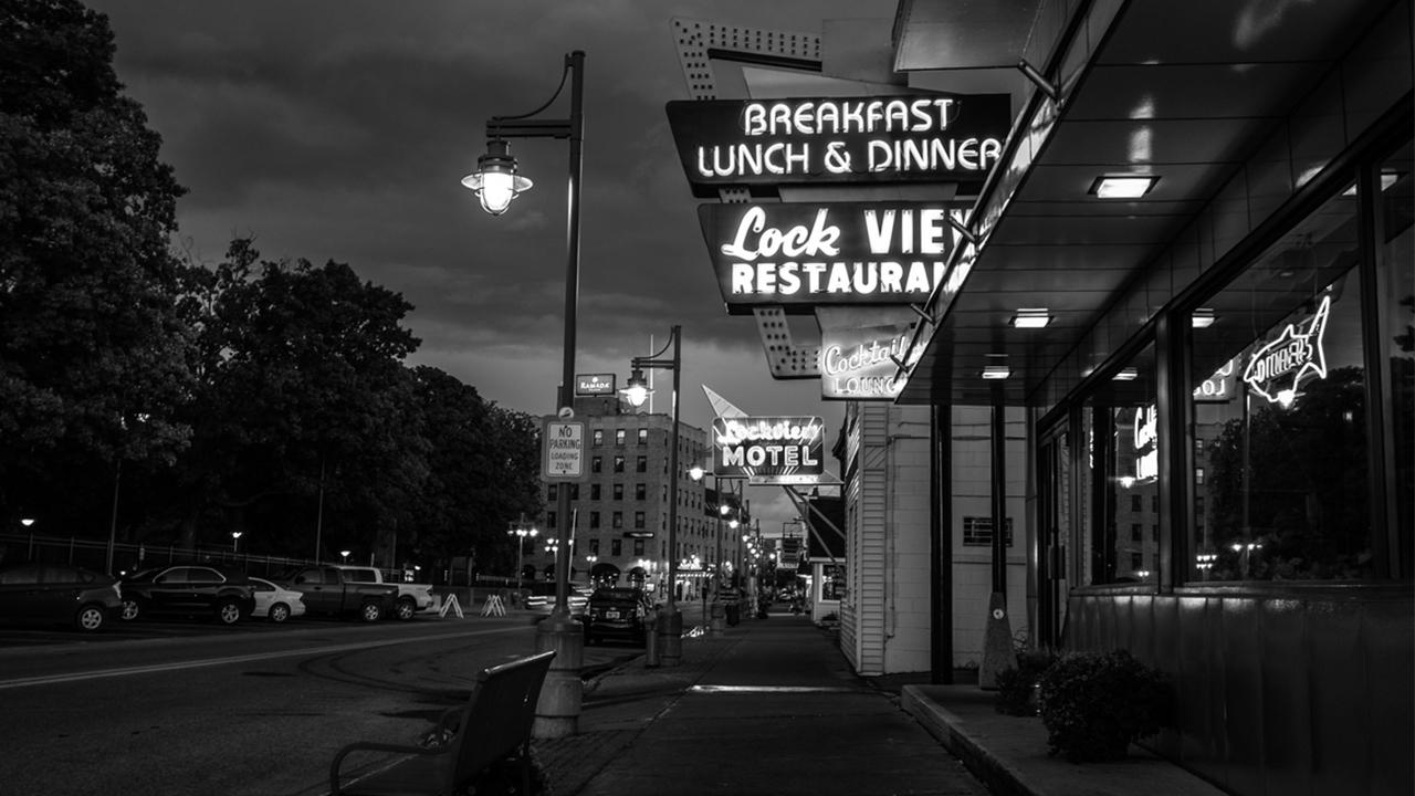 Restaurant in business district.